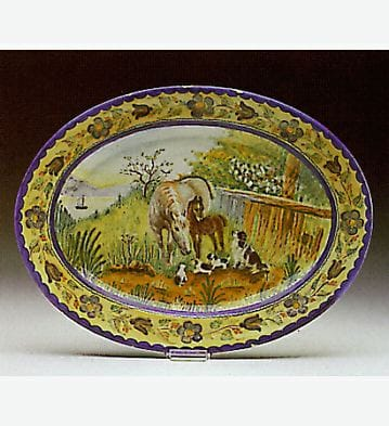 Horses and Dogs Plate Lladró