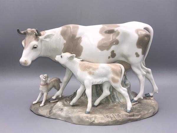 Cow with Calf & Puppy
