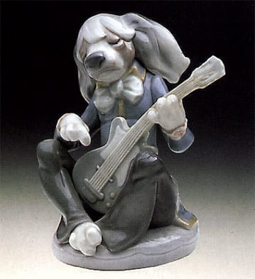Dog Playing Guitar-Seated Lladró