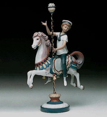 Boy On Carousel Horse