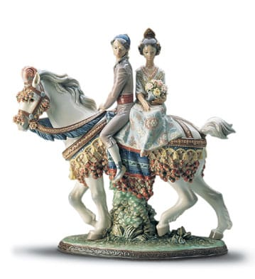 VALENCIAN COUPLE ON HORSE