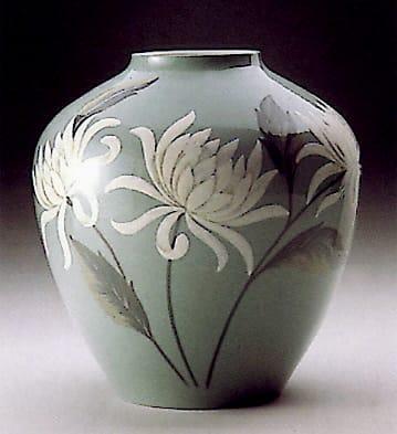 Chrysanthemum Vase Lladro 01001594 Functional Lladro Figurines