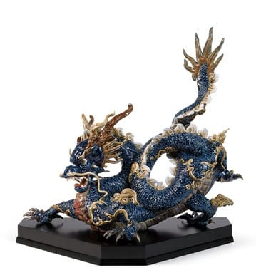 GREAT DRAGON (Blue Enamels) Lladró