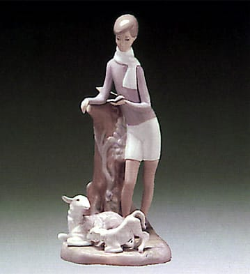 Boy with Lambs