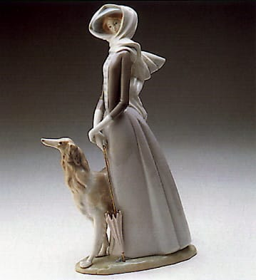 Lady with Greyhound