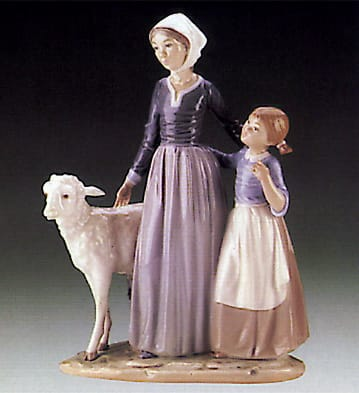 Mother w/Child & Lamb
