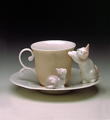 Kittens Cup and Saucer Lladró