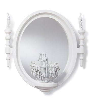 Small Oval Mirror Re Deco Lladro 01007082 Functional Collection Figurines Collectibles