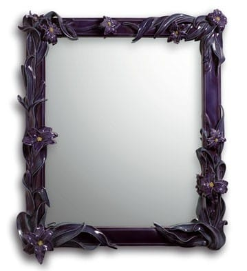 MIRROR WITH LILIES (PURPLE) Lladró