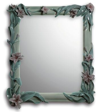MIRROR WITH LILIES (GREEN) Lladró
