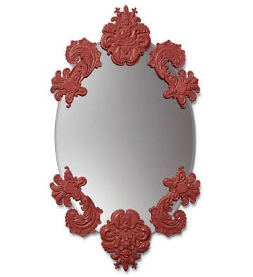 OVAL MIRROR WITHOUT FRAME (RED) Lladró