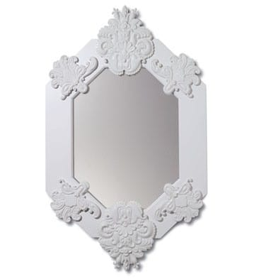 EIGHT SIDED MIRROR (WHITE) Lladró