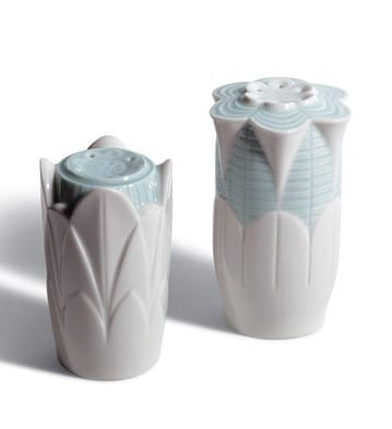 Salt & Pepper Shakers (Turquoise) Lladró