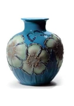 POPPY FLOWERS VASE (BLUE)