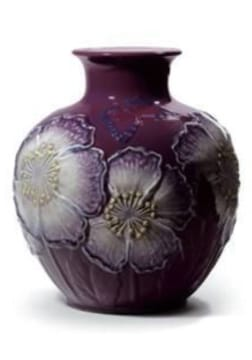 POPPY FLOWERS VASE (PURPLE) Lladró