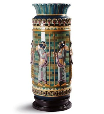 ARCHERS FRIEZE VASE (High Porcelain)