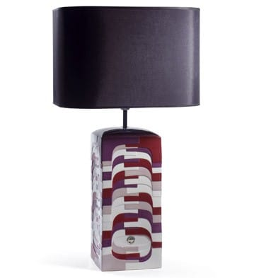 Estratos - Large Lamp (Burgundy)