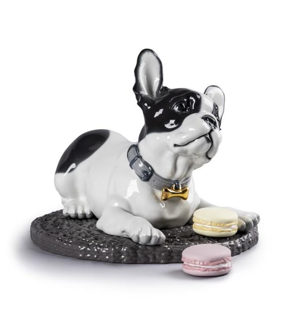 French Bulldog with Macarons Lladró