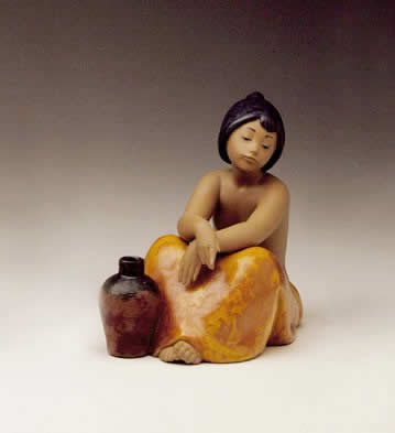 Girls with Jug (4) - Gres