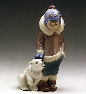 Eskimo Boy with Pet Lladró