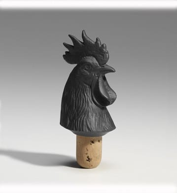 Bacchus Bottle Stopper Cockerel (Black) Lladró