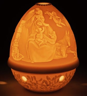 Lithophane Votive Light - Nativity