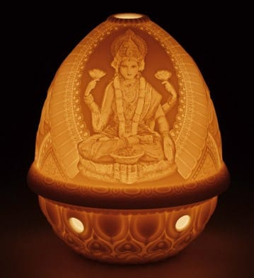 Lithophane Votive Light - Goddess Lakshmi