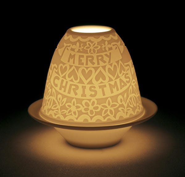 Lithophane Votive Light - Cutouts Christmas Lladró