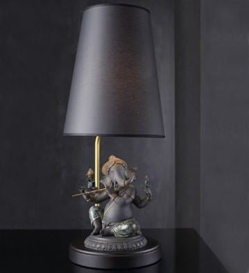 Bansuri Ganesha (Black) - Lamp (US) Lladró