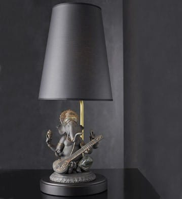 Veena Ganesha - (Black) Lamp (US)