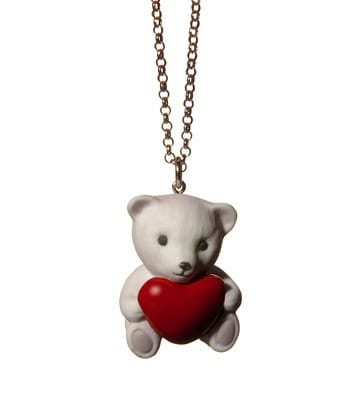 Pendant Bear With Red Heart Lladró