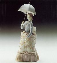 Lladro Lady With Umbrella | Lladro Figurines