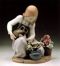 watering the flowers lladro 01001376 children lladro