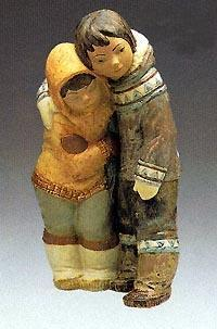 Eskimo Boy And Girl Reduced Lladro 01012038 3 Gres